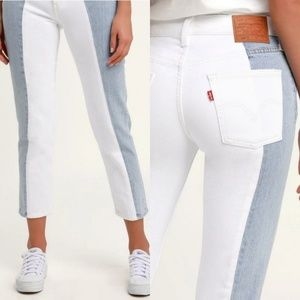 NEW Levi's 501 Taper Light Wash Color Block Jeans